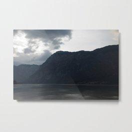 Lake Bohinj at dusk Metal Print