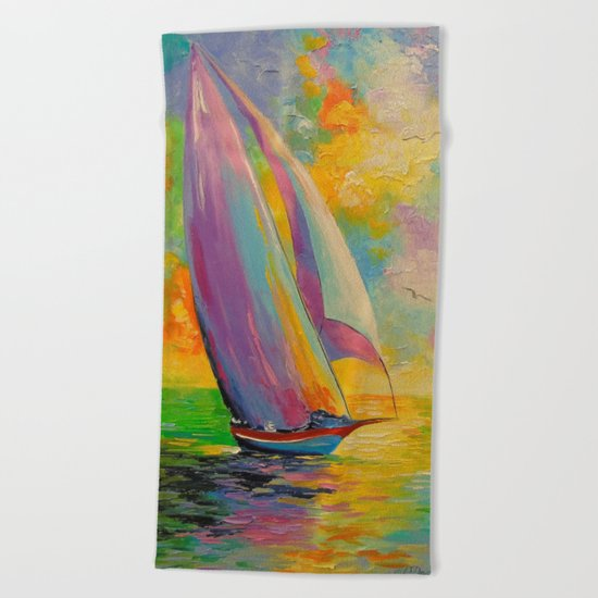 A fresh breeze Beach Towel