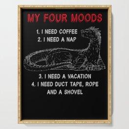 Dragon My Four Moods I Need Coffee I Need A Nap Serving Tray