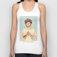 coconutwishes Tank Tops featuring Tommo Flower crown by Coconut Wishes