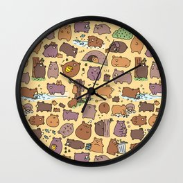Beary Cute Bears Wall Clock