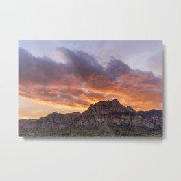 Red Rock Sunset Metal Print