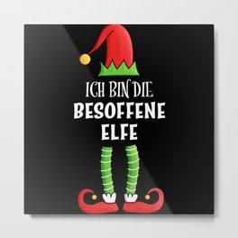 Besoffene Elfe Partnerlook Weihnachten Metal Print