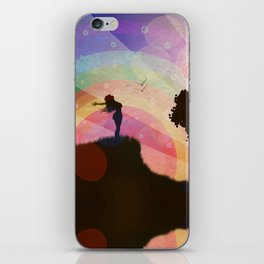 Freedom and rainbow iPhone Skin