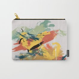 Intuitive Conversations, Abstract Mid Century Colors Carry-All Pouch