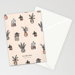Little Potted Plants Stationery Cards