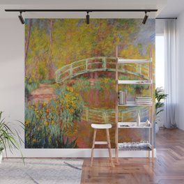 "Claude Monet ""The Japanese Bridge at Giverny"" Wall Mural"
