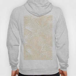 Modern tropical elegant ivory palm tree pattern Hoody