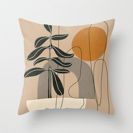 Abstract Shapes 04 Throw Pillow