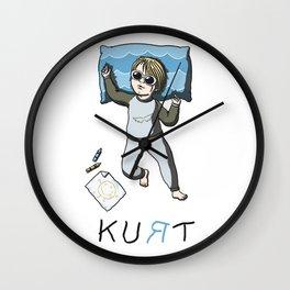 Sleeping artist KURT Wall Clock