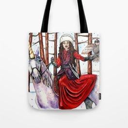 Winter Warrior by DeeDee Draz Tote Bag