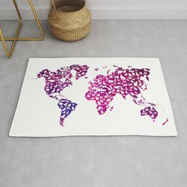 Cats map world Rug