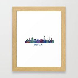 Berlin City Skyline HQ Framed Art Print