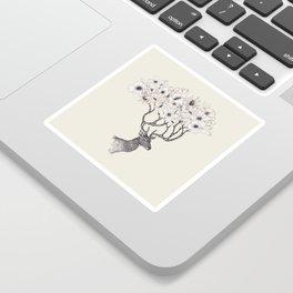 Antler Blooms Sticker