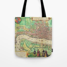A Modern Map of London Tote Bag
