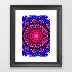 Blue berry lake Framed Art Print