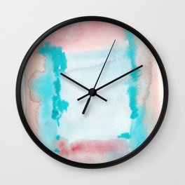 180815 Watercolor Rothko Inspired 9| Colorful Abstract | Modern Watercolor Art Wall Clock