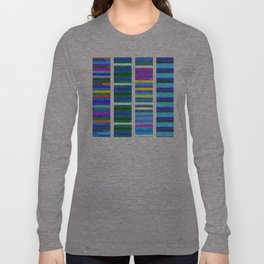 Blue Tinted Stripes Long Sleeve T-shirt