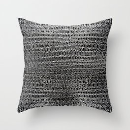 Silver Chain Maille Throw Pillow