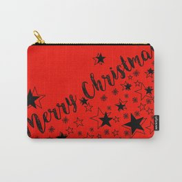 Merry Christmas (black/red) Carry-All Pouch