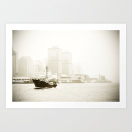 River Boat Art Print