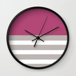 Sangria Bettron Stripes Art Wall Clock