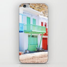 230. Tiny colorful Houses, Greece iPhone Skin