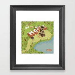 The Burrow Framed Art Print