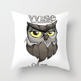 OWL! Wise and beautiful Throw Pillow