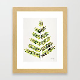 Green Leaflets Framed Art Print