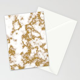 Luxury Gold Marble Stationery Cards