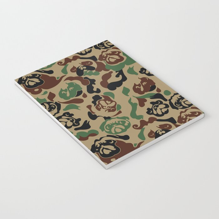 Pug Camouflage Notebook