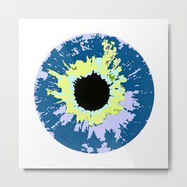 COLOR CONTACTS ELECTRIC Metal Print
