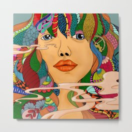 Colorful Girl Metal Print