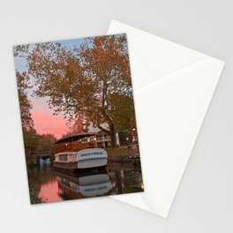 Autumn Twilight Canal Stationery Cards