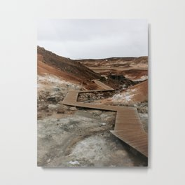 adventure path | the area of earth tones | Iceland photography print geyser Metal Print