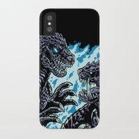 kaiju iPhone & iPod Cases featuring Kaiju Collide by Austin James
