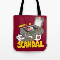scandal Tote Bags featuring Scandal by MinaLotToMe