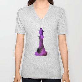 Chess Queen Watercolor Unisex V-Neck
