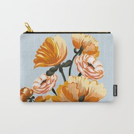 Spring flowers poppies, warm colors, Carry-All Pouch