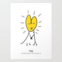 HUG by ISHISHA PROJECT Art Print