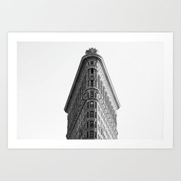 Flatiron Black and White NYC Art Print