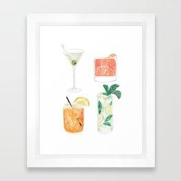 Colorful cocktails Framed Art Print