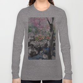 Sumie No.15 Japanese Garden Long Sleeve T-shirt
