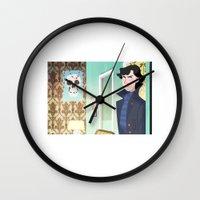 221b Wall Clocks featuring Sherlock at 221B by omgletmeloveu