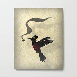 Steampunk Hummingbird Metal Print