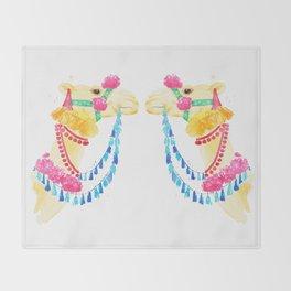 Marrakesh Camel Throw Blanket
