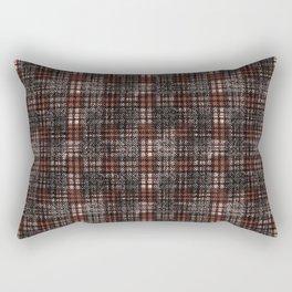 Classical black and dark scarlet cell. Rectangular Pillow
