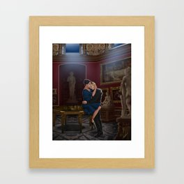 comfort before confession Framed Art Print