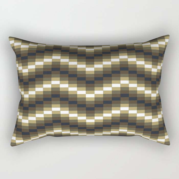 Block Wave Illustration Artwork Rectangular Pillow